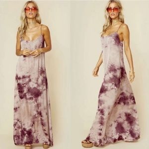 Blue Life  Pink Tie Dye Slip Maxi Dress